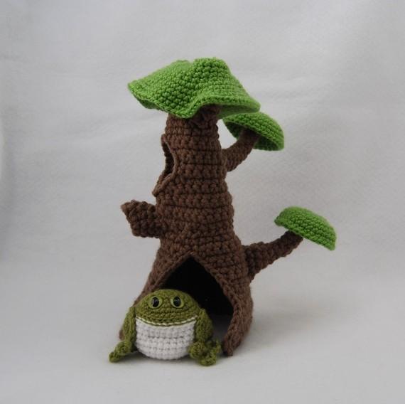 Вязаное дерево своими руками